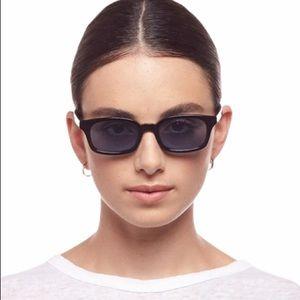 Le Specs Carmito Black Rectangle Sunglasses